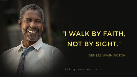 I walk by faith, not by sight