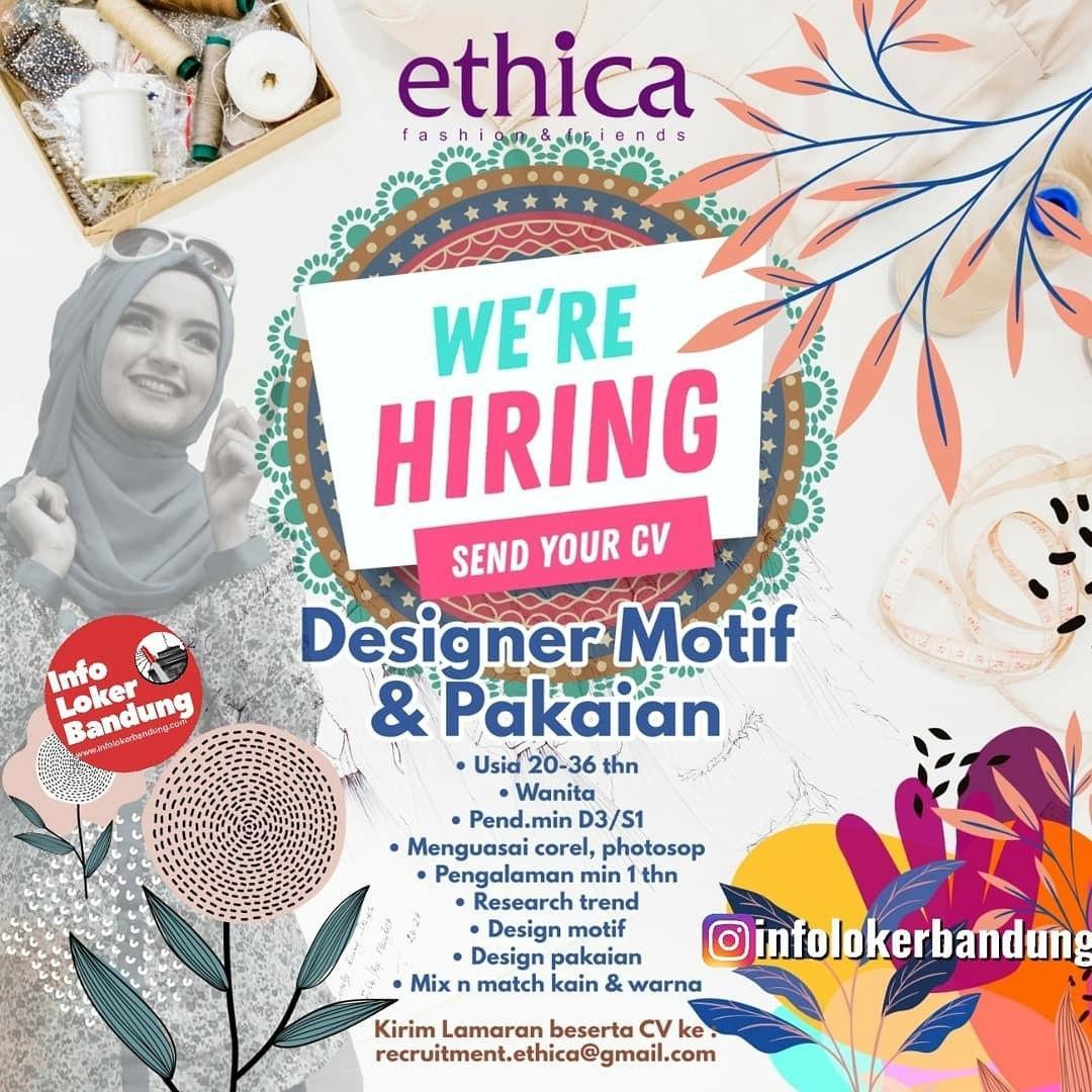 Lowongan Kerja Ethica Bandung Januari 2020