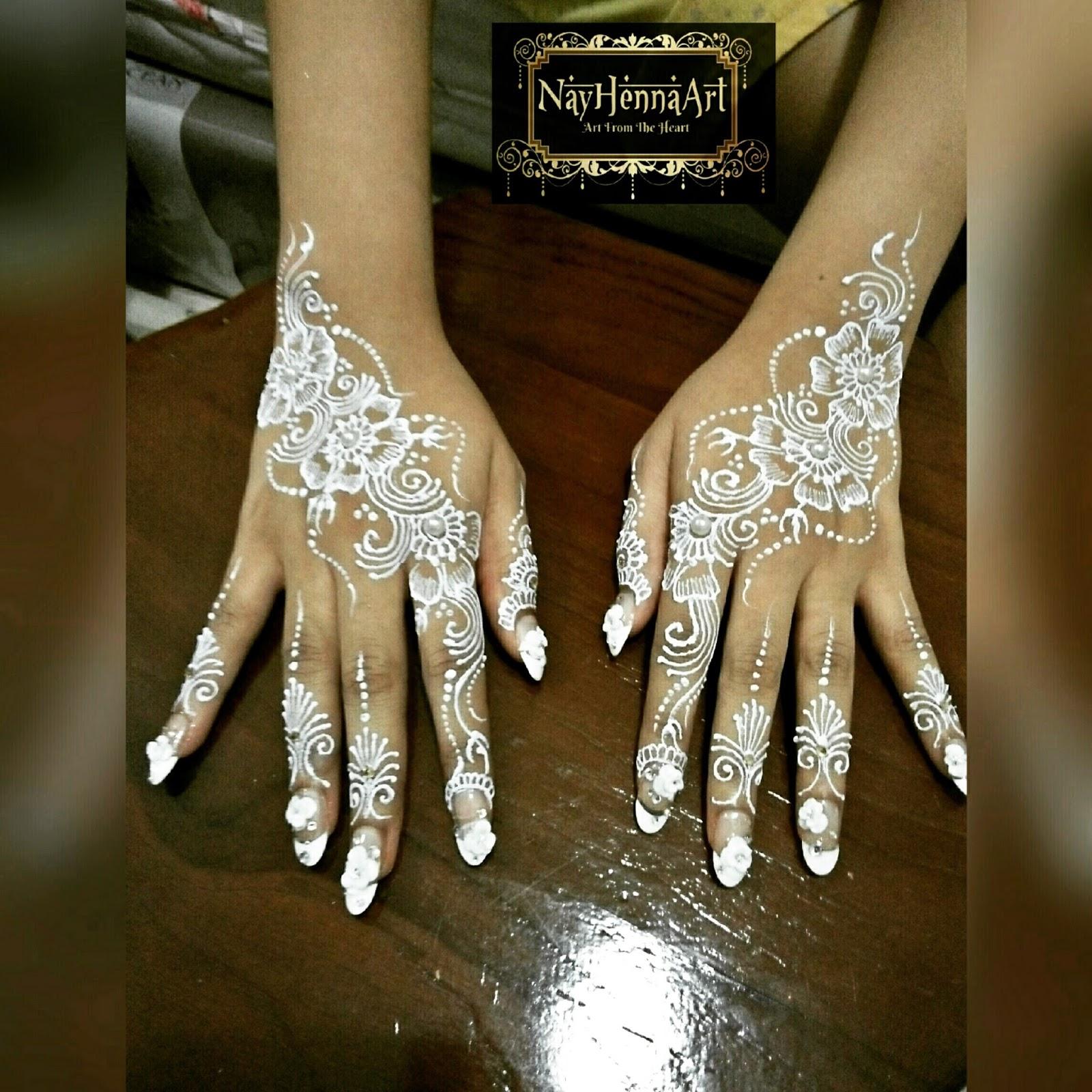 Gambar Henna Putih Pengantin Balehenna