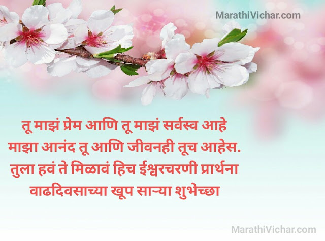happy birthday quotes for wife in marathi