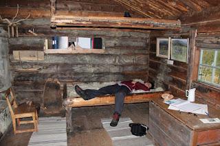 Innenaufnahme der Hütte