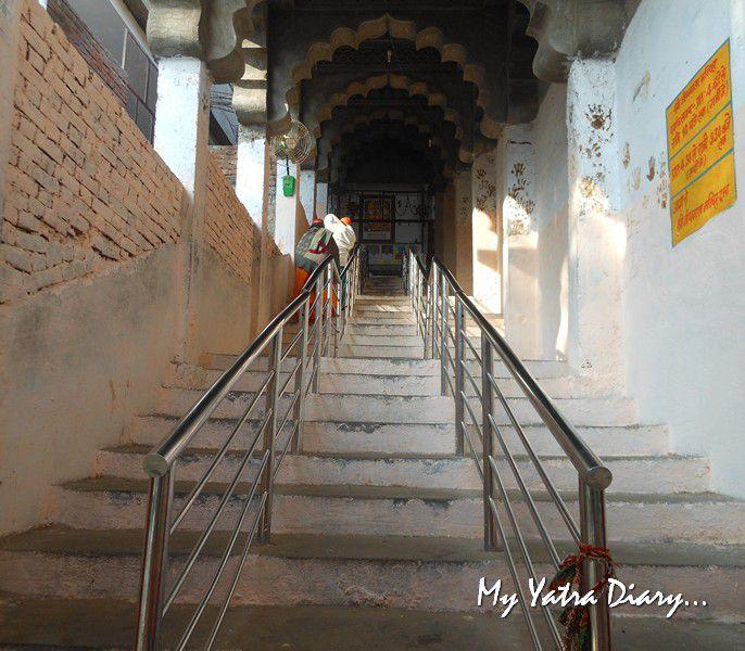 Steps to the ShaktiSthal Jeen Mata Mandir Sikar Rajasthan