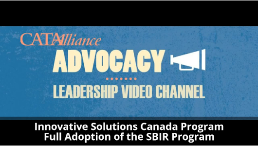 CATAAlliance Calls for Adaption the US Small Business Innovation Research (SBIR) Program