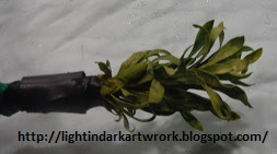 If used dried the Bottlebrush stamp will leave its leaves to mix with the paint