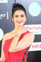 Meenakshi Dixit in Red One Shoulder Red Zipped up gown at IIFA Utsavam Award 28.JPG