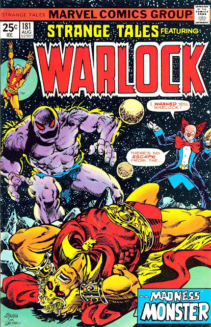 Strange Tales v1 #181 marvel warlock comic book cover art by Jim Starlin