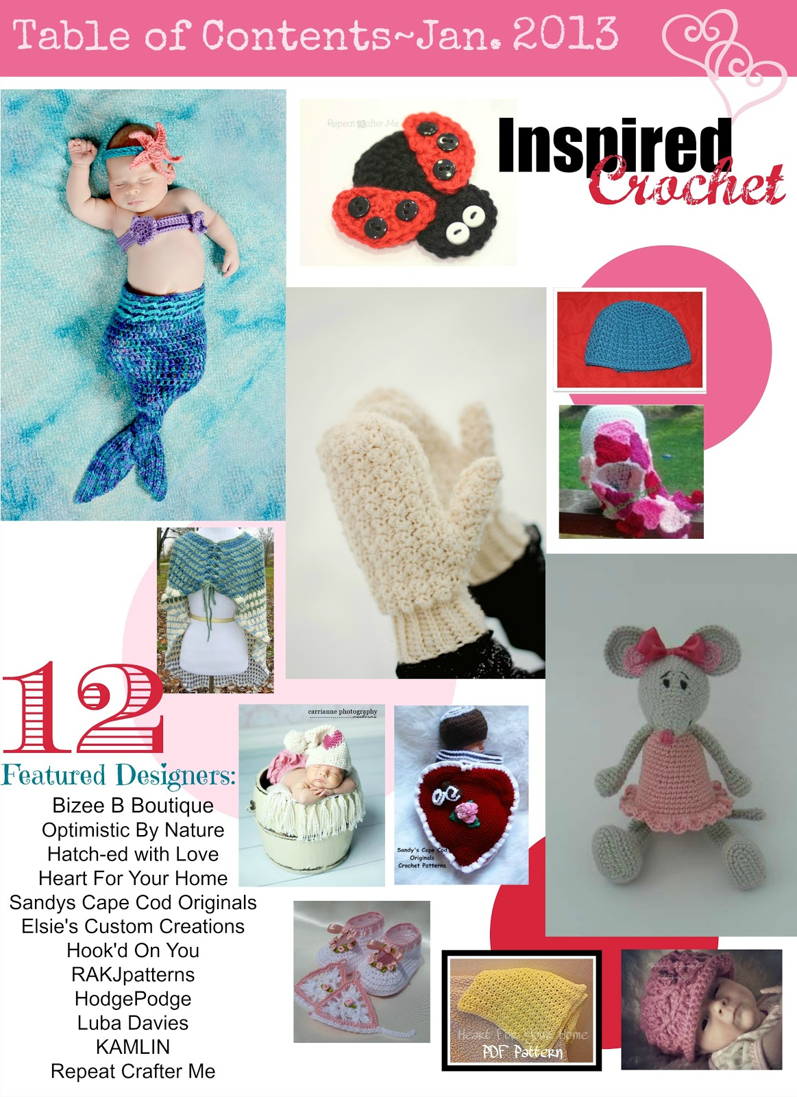 Inspired crochet magazine featured pattern repeat crafter me my pattern is the cute little ladybug appliqu i think it would make an adorable embellishment on a hat or headband but it could also be a magnet bankloansurffo Choice Image