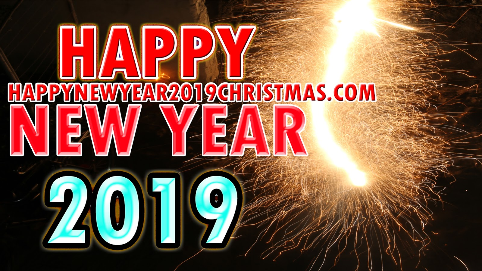 Happy New Year 2019 Fireworks Wallpaper | Happy New Year 2019 images ...