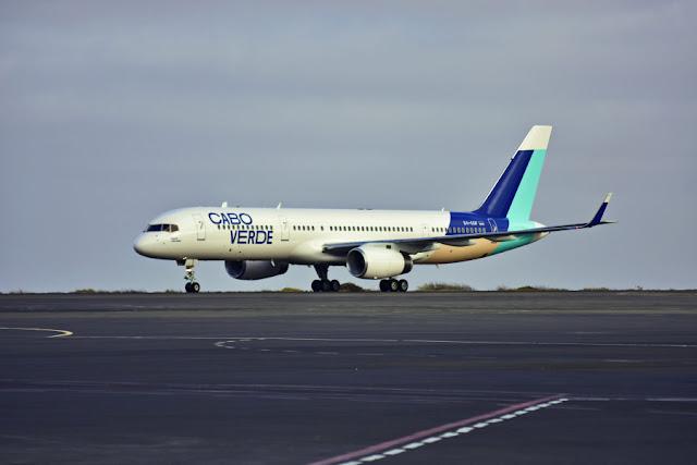Aeronave da Cabo Verde Airlines