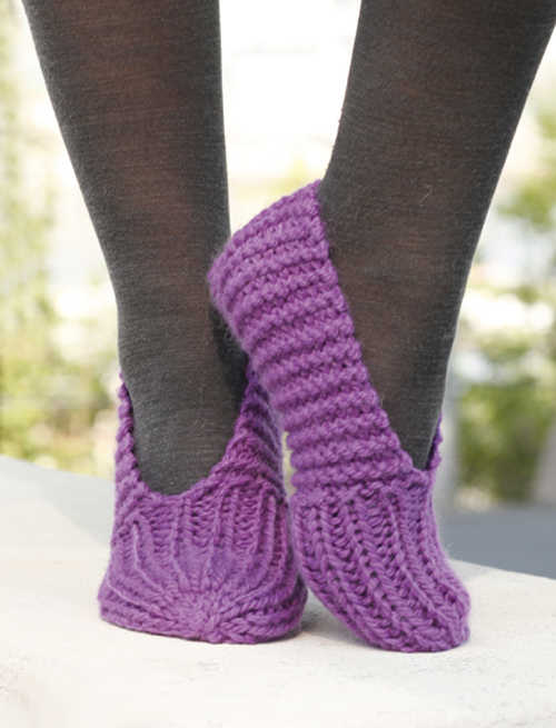 Lollipop Knitted Slippers - Free Pattern