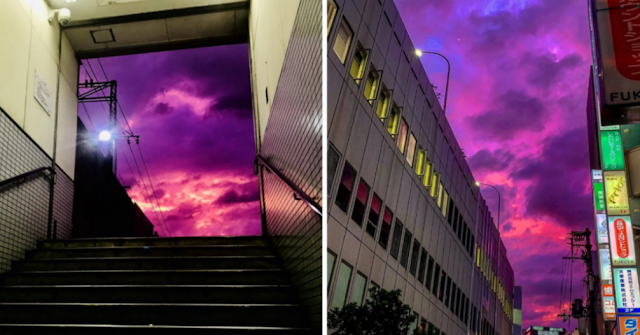 Heboh Langit di Jepang Tampak Ungu, Begini Tanggapan Ahli Meteorologi
