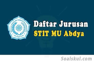 daftar jurusan stit muhammadiyah abdya