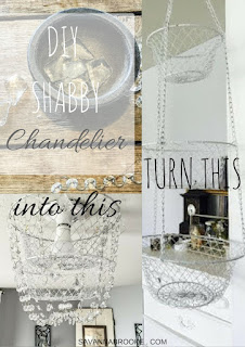 DIY chandelier with vegetable basket