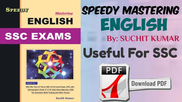 Speedy Mastering English For SSC Exams Book
