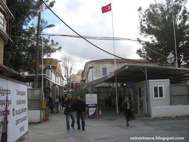 Пропускной пункт между турецкой и греческой Никосией
