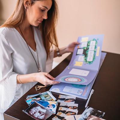 libro recuerdo diario del embarazo información fotos pegatinas bebé semana a semana feto comparación frutas