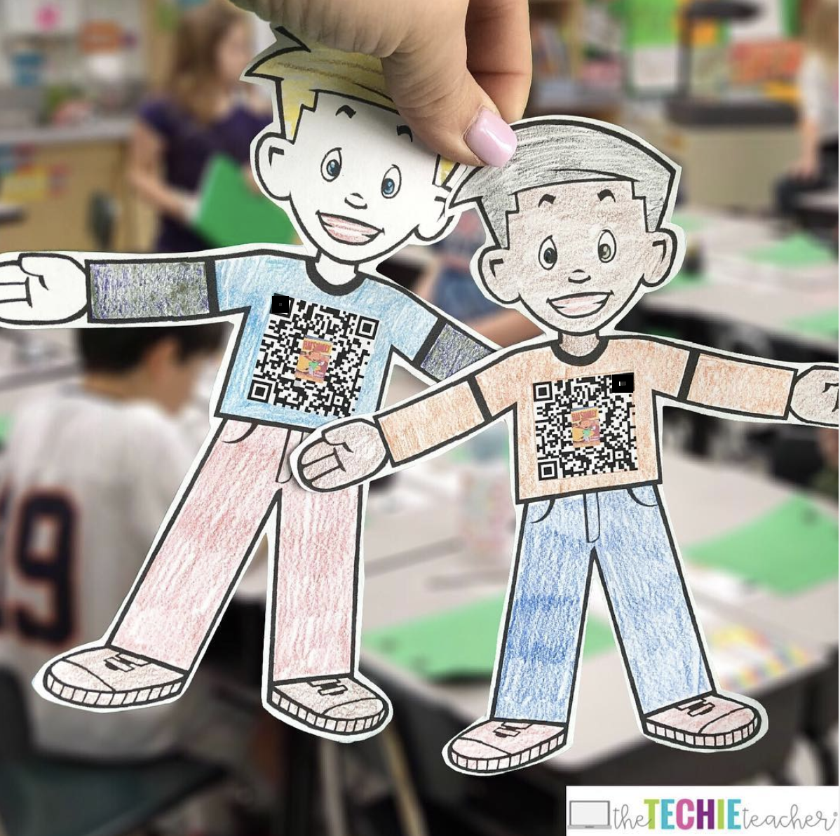 Flat Stanley 2.0 has a QR Code that leads to a collaborative Wakelet collection!