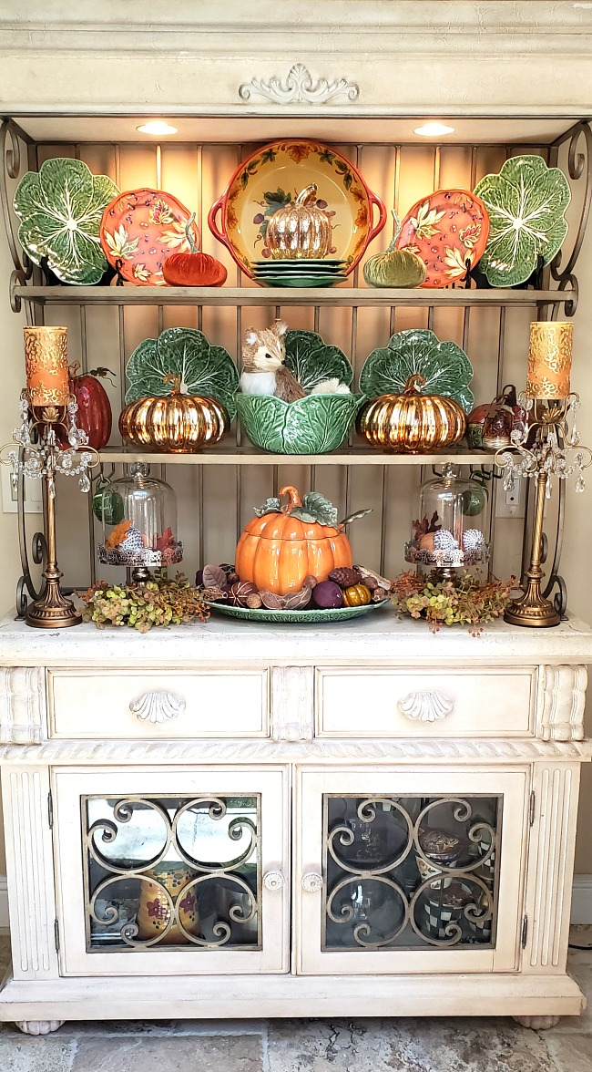 Autumn styled Baker's Rack