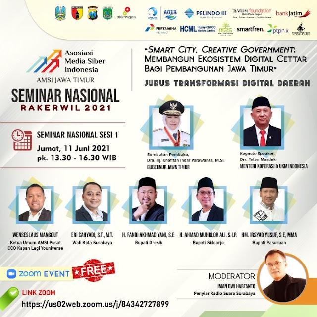 Rakerwil, AMSI Jatim Dorong Pertumbuhan Ekonomi Digital Jawa Timur