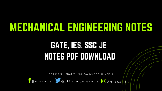 Mechanical Engineering Pdf Notes – GATE, IES, SSC JE Notes - ErExams - Engineering Exams Guidance RSS Feed  IMAGES, GIF, ANIMATED GIF, WALLPAPER, STICKER FOR WHATSAPP & FACEBOOK