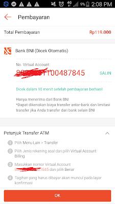 pembayaran pembelian dari aplikasi shopee