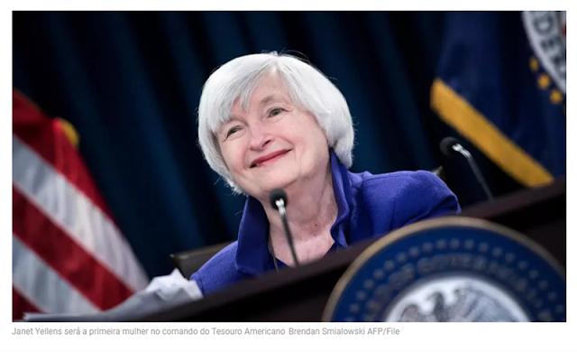 Biden nomeia Janet Yellen primeira mulher à frente do Tesouro Americano