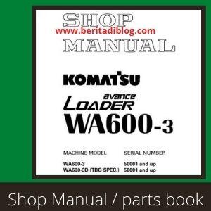 Shop Manual WA600-3 wheel loader komatsu