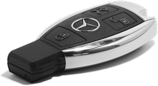 ключ зажигания mercedes с привязкой к авто