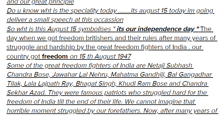 Independence Day Speech For Students | 15th August Speech