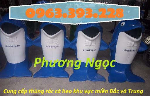 Thùng rác hình con cá heo, thùng rác công cộng, thùng rác cá heo, thùng rác TRCH6