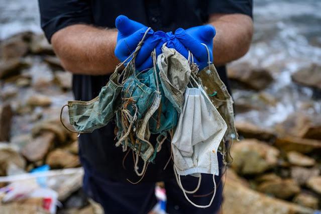 masker mencemari laut