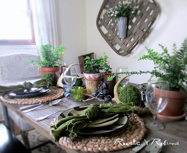 Tablescape using animal print dishes