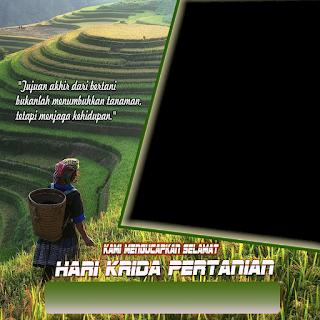 twibbon ucapan selamat hari krida pertanian png hd kosongan - kanalmu