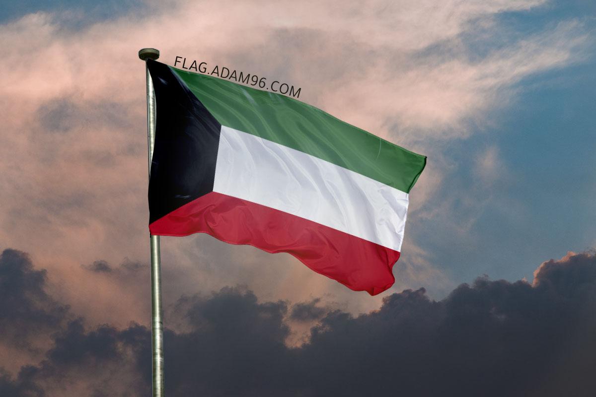 اجمل خلفية علم الكويت يرفرف في السماء خلفيات علم الكويت 2021