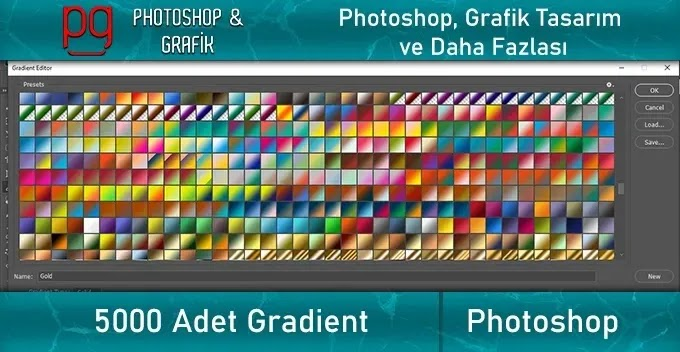 5000 Adet Gradient | Photoshop Gradients