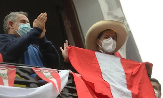 Pedro Castillo gana las elecciones con más de 50%
