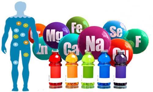 Los minerales electrolitos que contienen algunas bebidas y su importancia