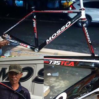 Frame Road Bike Mosso 735 Tca Hitam Merah