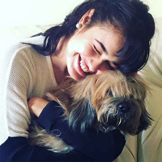 Yuvika Chaudhary with her dog