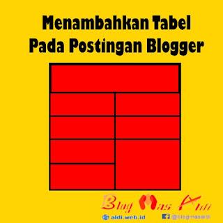 Menambahkan Tabel pada Postingan Blogger