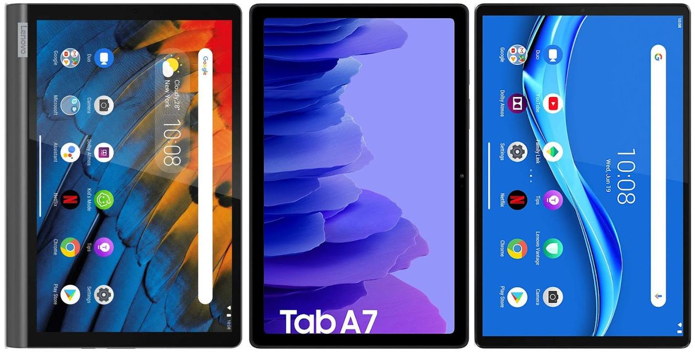 Lenovo Yoga Smart Tab 64 GB vs Samsung Galaxy Tab A7 10.4 32 GB vs Lenovo Tab M10 FHD Plus 128 GB