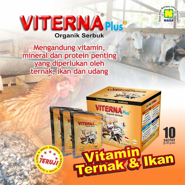 Manfaat dan Kandungan Vitamin Ternak VITERNA PLUS Untuk Hewan