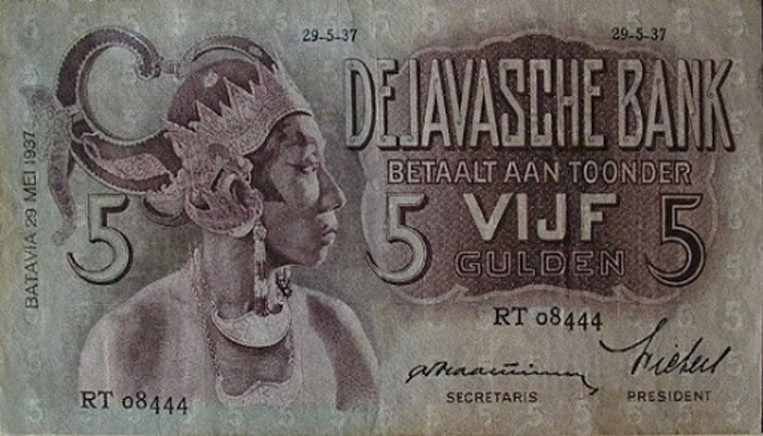 Uang Kuno 5 Gulden