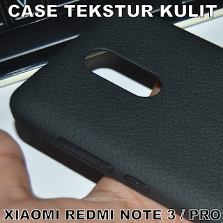 TPU-Jelly-Softcase-Leather-Texture-Case-Tekstur-Kulit-Xiaomi-Redmi-Note-3-Pro