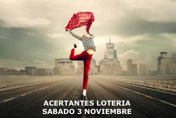 loterias sabado 3 de noviembre de 2018