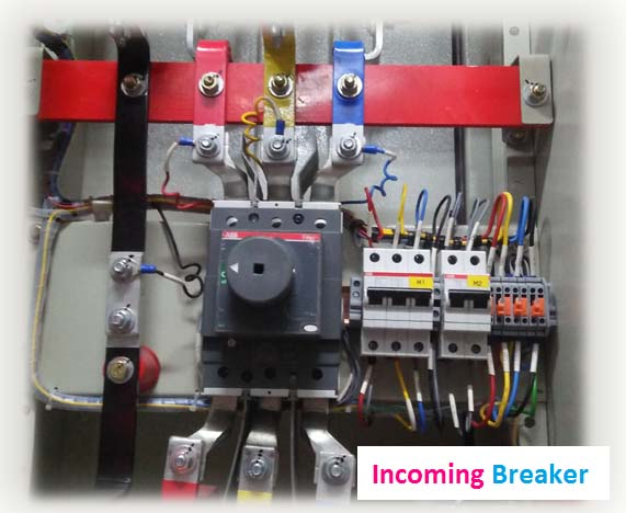 incoming breaker in electrical panel