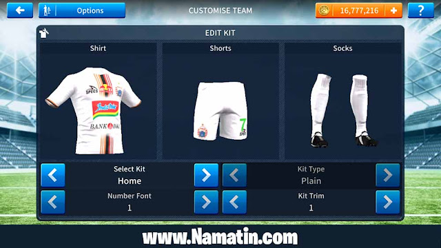 Jersey Dream League Soccer Persija Ketiga