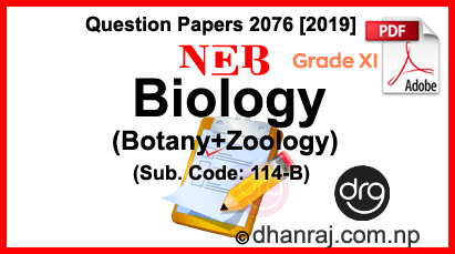 Biology (Botany+Zoology) | Grade 11-XI | Question Paper 2076