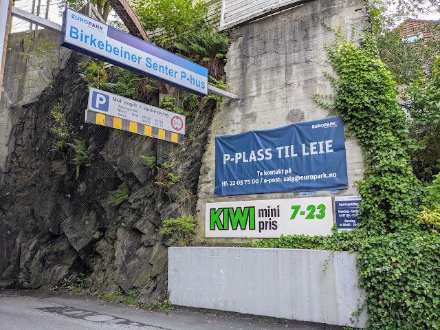 Parking lot in Bergen Norway
