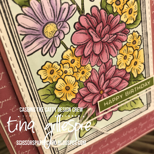 scissorspapercard, Stampin' Up!, CASEing The Catty, Ornate Style, Swirly Frames, Label Me Bold, Peaceful Moments, In Colour DSP, Stitched Rectangle Dies, Stampin' Blends